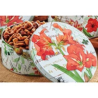 Honey Crunch Nutties Amaryllis Tin