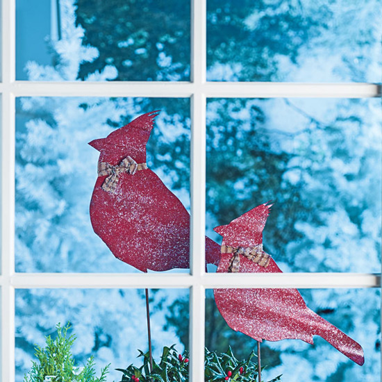 Cardinal Plant Stakes: Set of 2