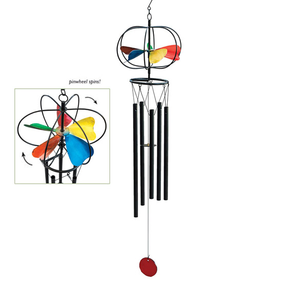 Pinwheel Spinning Wind Chime