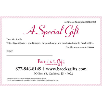 Breck's Gift Certificate